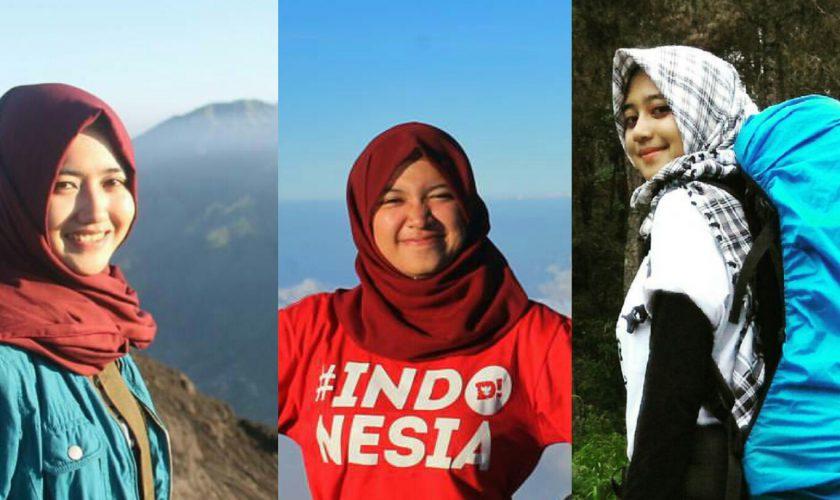 Tiga Pendaki Cantik Indonesia