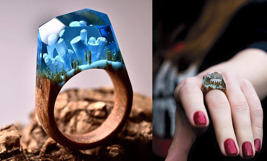 Miniatur Keindahan Dunia Ada di Dalam Cincin Ini!