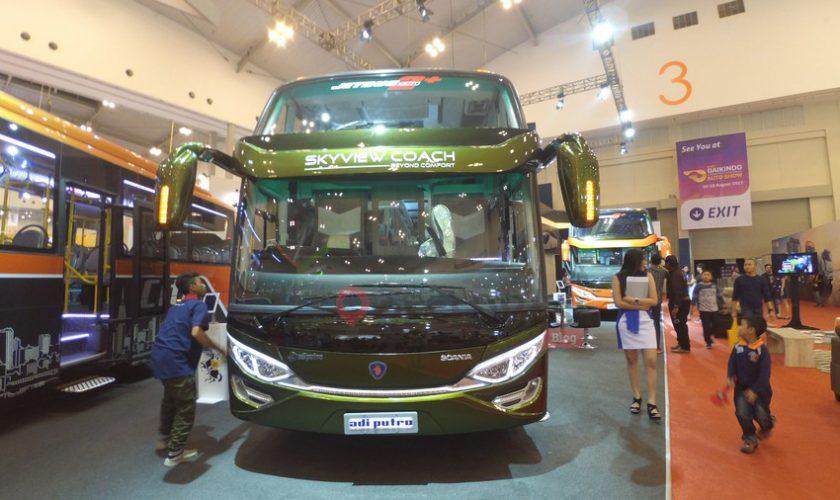 Potret Mewah Bus Wisata Scania Skyview Coach