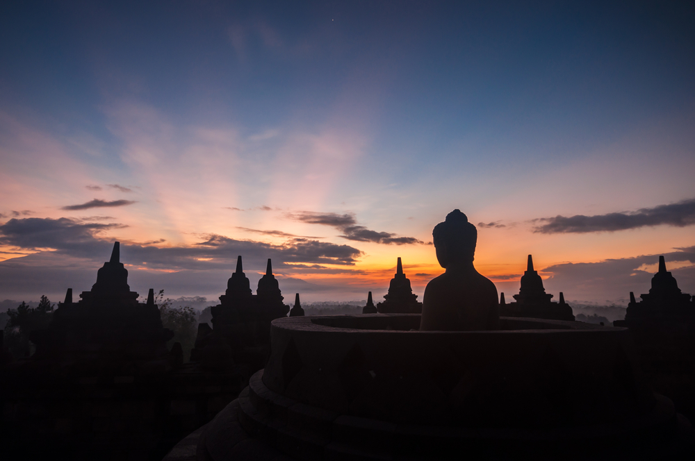 sunset-borobudur