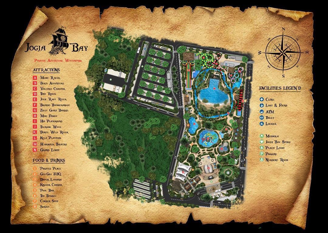 Denah Waterpark Jogja Bay IG @Jogjabay
