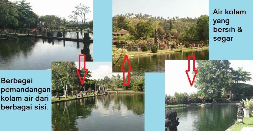 Taman air yang berada di sisi kanan dan kiri Tirta Tangga (Sumber: dokumen pribadi)