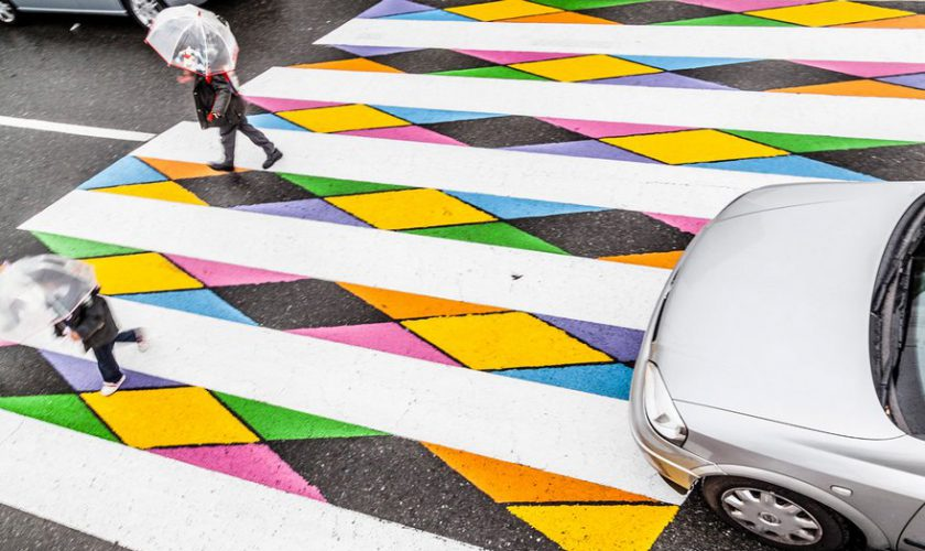 street art zebra cross