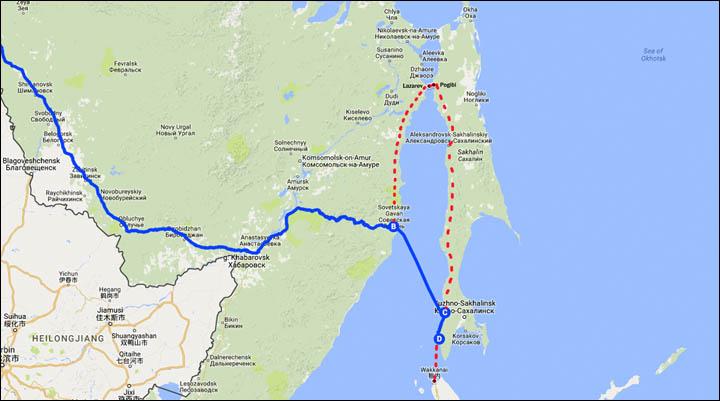 peta kereta api terpanjang dari Jepang ke London