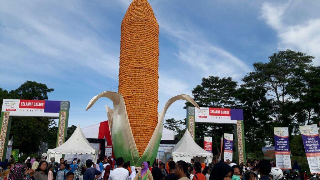Wow! Menara Jagung Setinggi 15 Meter Jadi Ikon Baru Boyolali