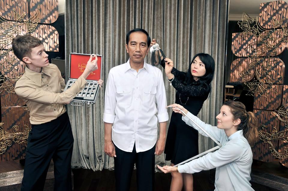 Tahun 2017, Patung Lilin Presiden Jokowi Siap Dipamerkan di Madame Tussauds