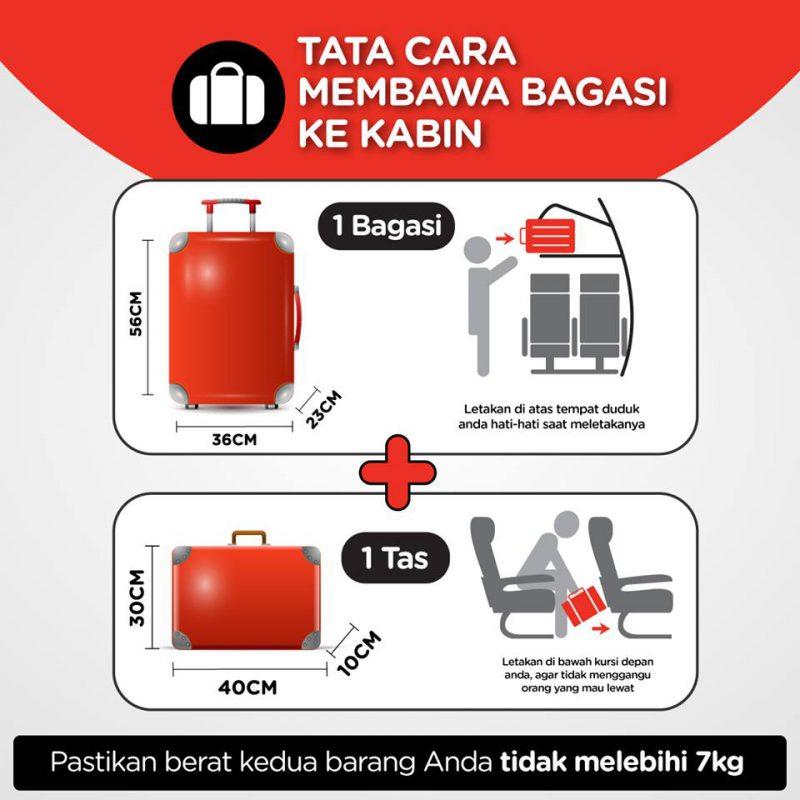 cara bawa bagasi ke kabin pesawat AirAsia