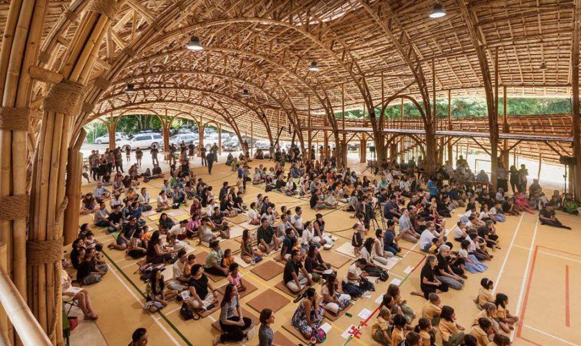 gedung olahraga dari bambu 1