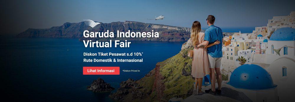 Garuda Virtual Fair 2018: Diskon s.d 20% di Reservasi.com