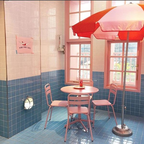 Stylenanda Pink Pool Cafe, Tempat Nongkrong Instagramable di Korea Selatan