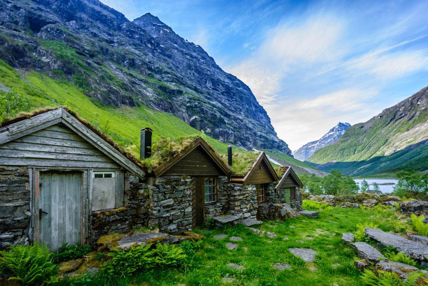 11 Rumah Unik dengan Atap Rumput Ala Skandinavia