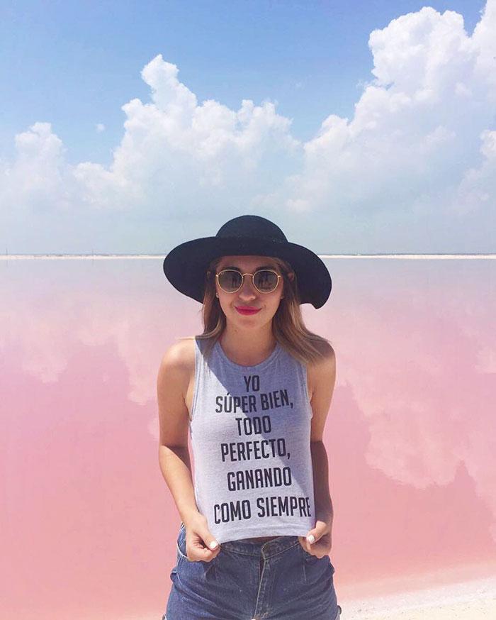 Laguna Pink di Meksiko yang Sedang Hits di Instagram