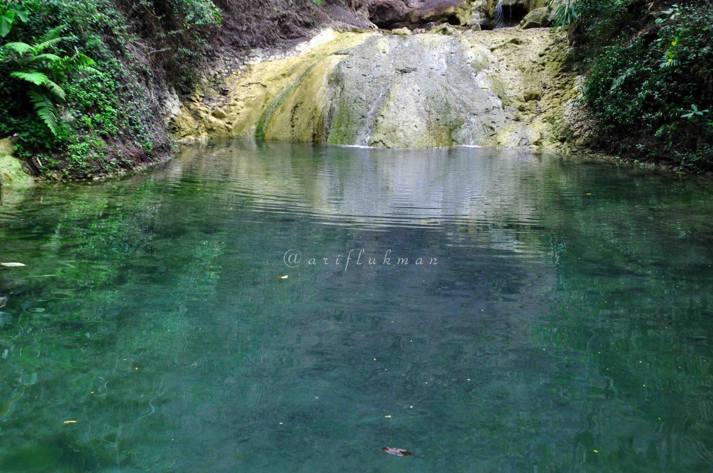 Salah satu kolam di air terjun kembang soka
