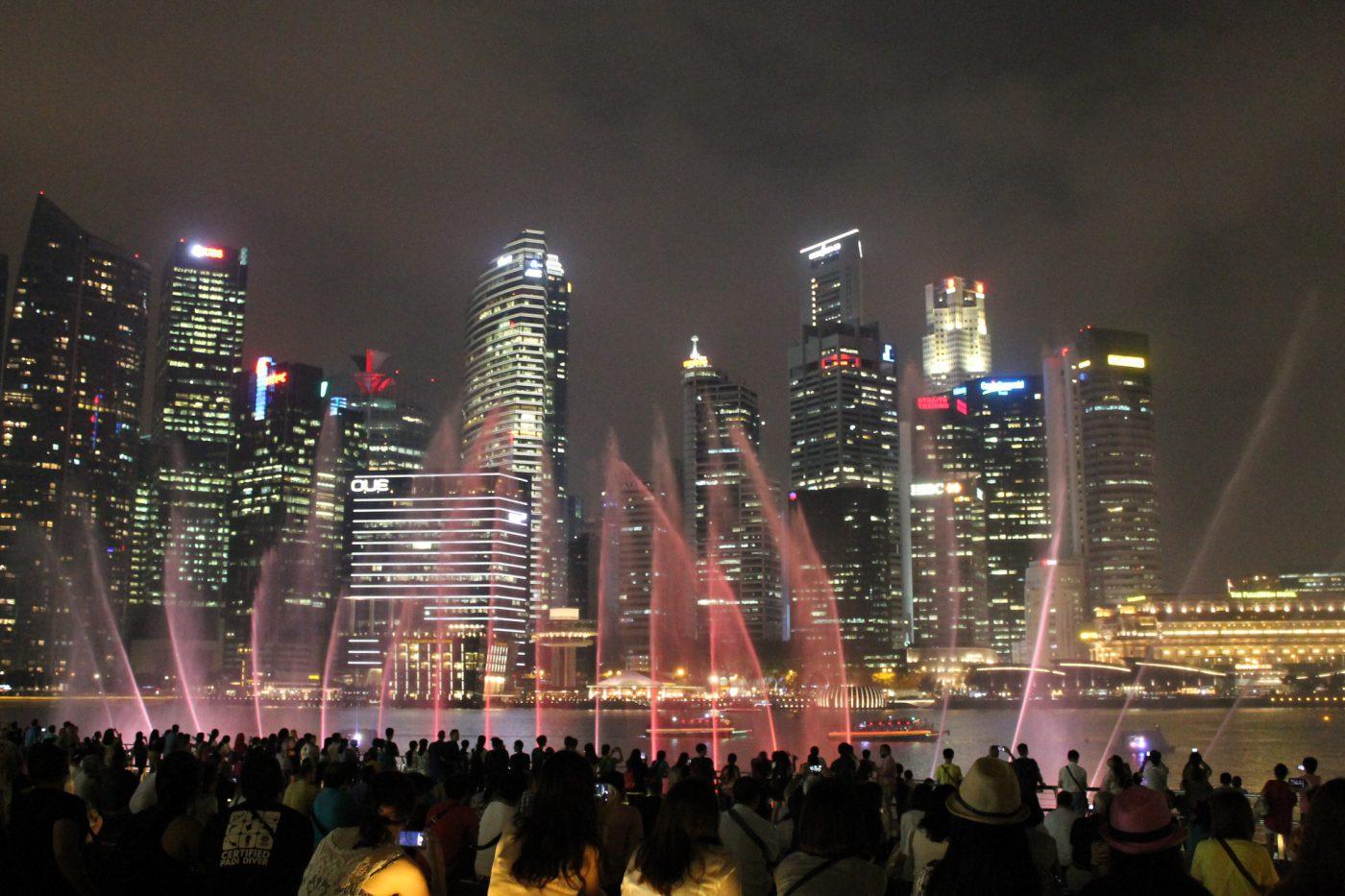 Marina Bay Laser Show (Istimewa/Ruth Nina)