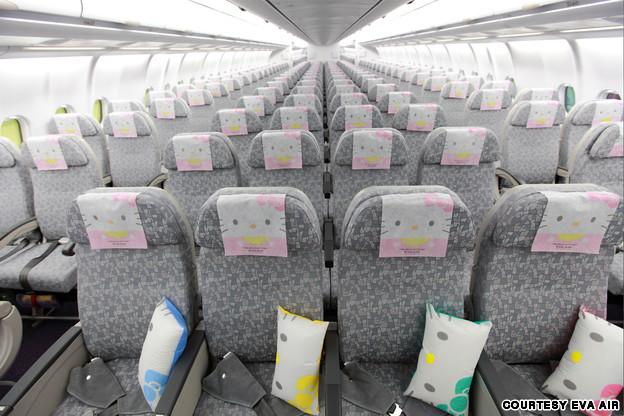 Kursi di dalam pesawat pasti bikin betah :D
