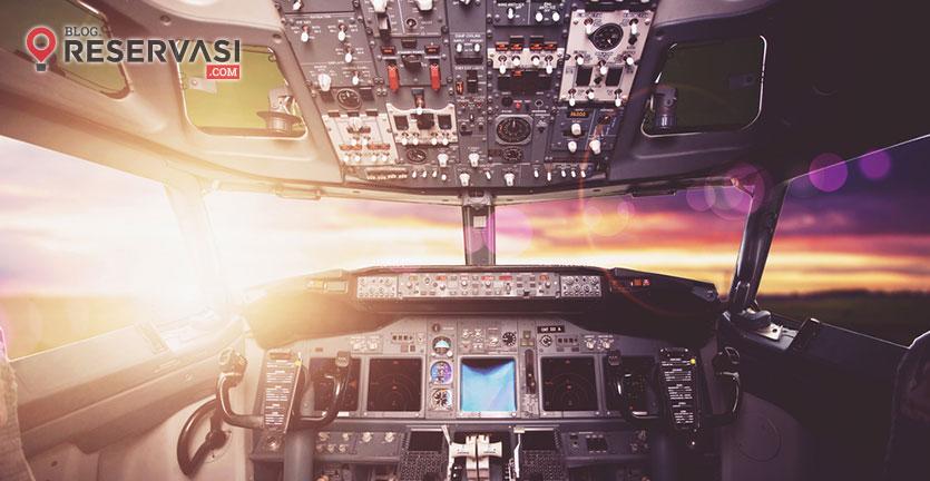 Begini Kondisi Kokpit Pesawat Saat Lepas Landas