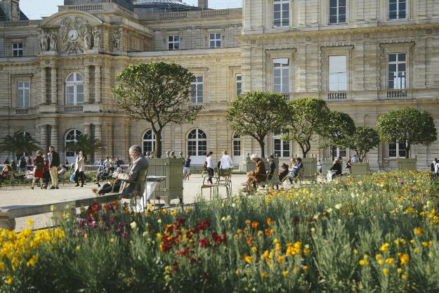 Jardin du Luxembourg di musim semi, Paris.