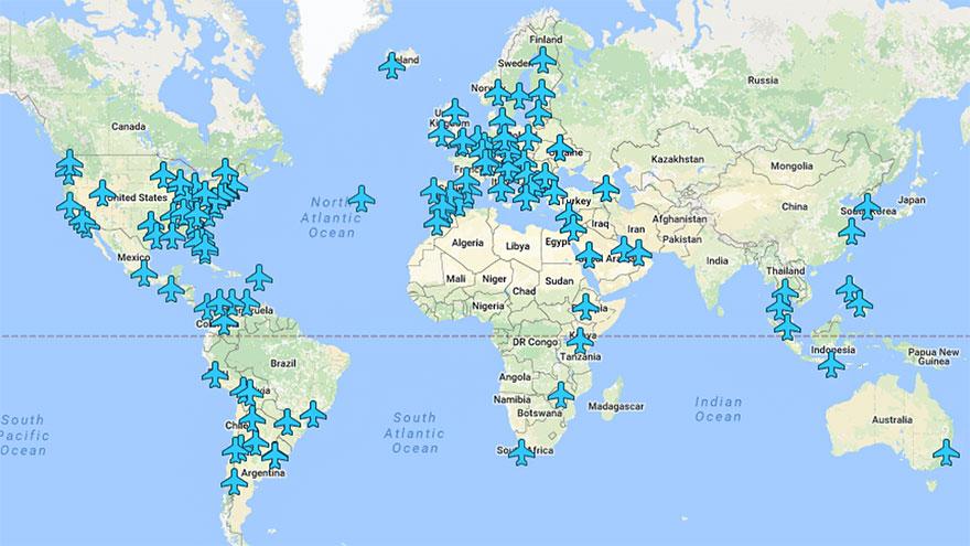 Peta Canggih dengan Password WIFI Bandara di Seluruh Dunia