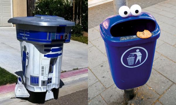 tempat sampah lucu