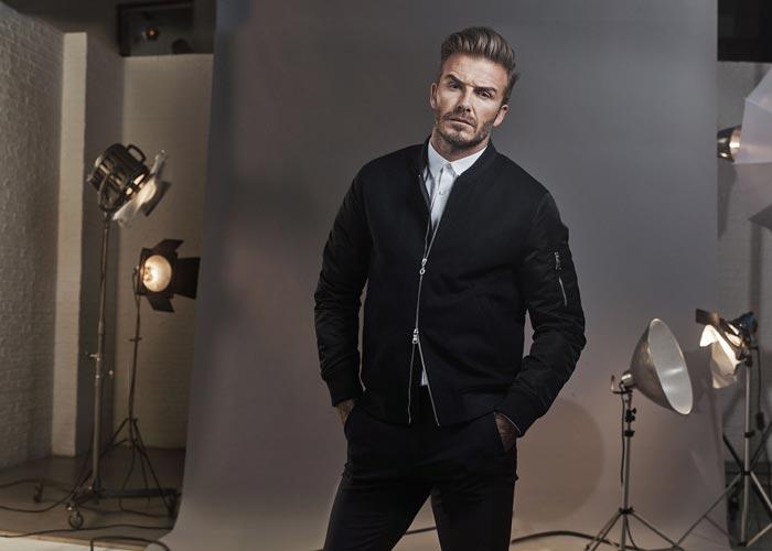 David Beckham dengan bomber jaket