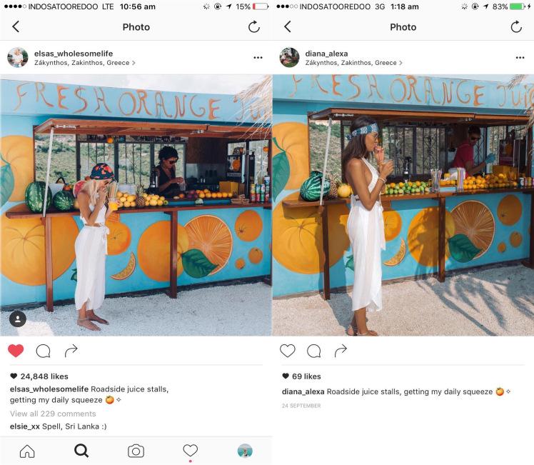 Menyeramkan! Foto Instagram Traveller Cantik Ini Ditiru oleh Cewek Misterius