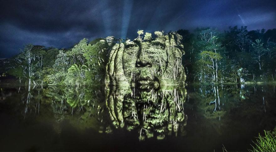 Street Art yang Sarat Pesan Moral Hadir di Hutan Hujan Amazon