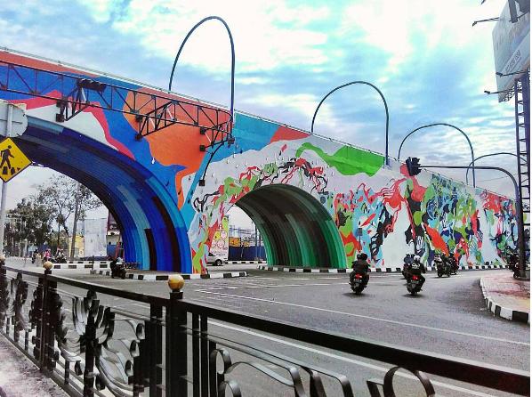 Flyover Paling Artsy Se-Indonesia, Intip Wajah Baru Jembatan Antapani Bandung!