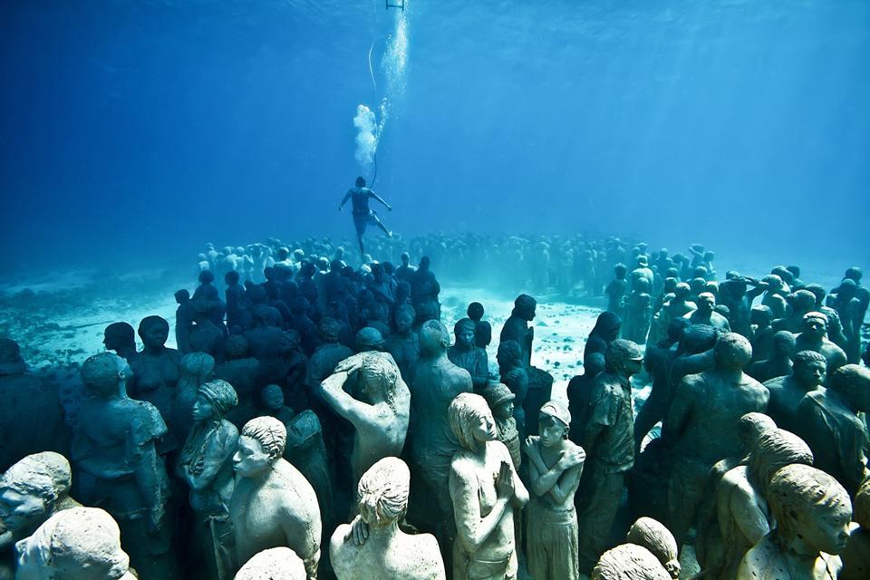 museum patung bawah air di Eropa