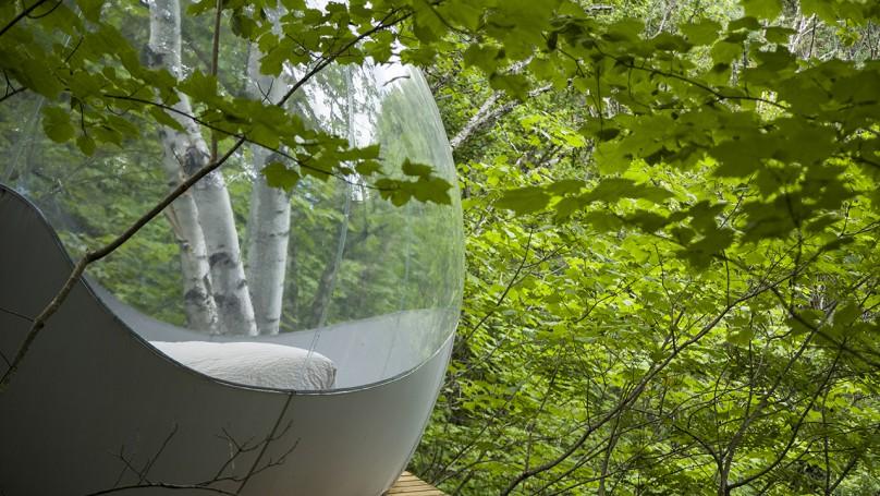 Hotel Unik di Tengah Hutan Berbentuk Balon