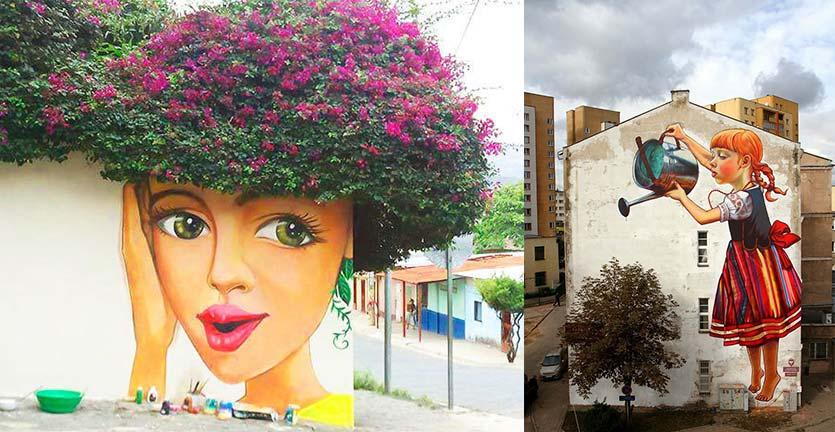 Gunakan Pohon dan Tanaman, 21 Gambar Jalanan 3D Ini Makin Natural