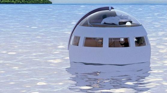 Kamar Hotel Terapung akan Membawa Kamu ke Sebuah Pulau yang Memiliki Resort Mewah