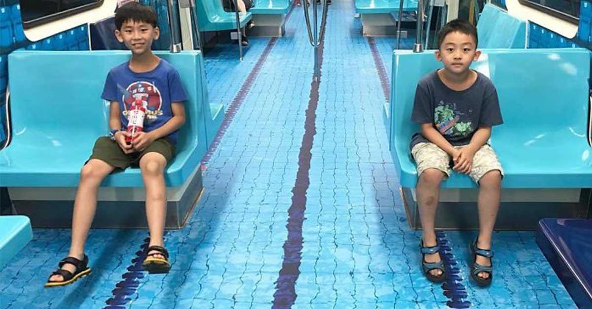 Sambut Perhelatan Olahraga Dunia, Dekorasi MRT di Taiwan ini Viral di Sosial Media