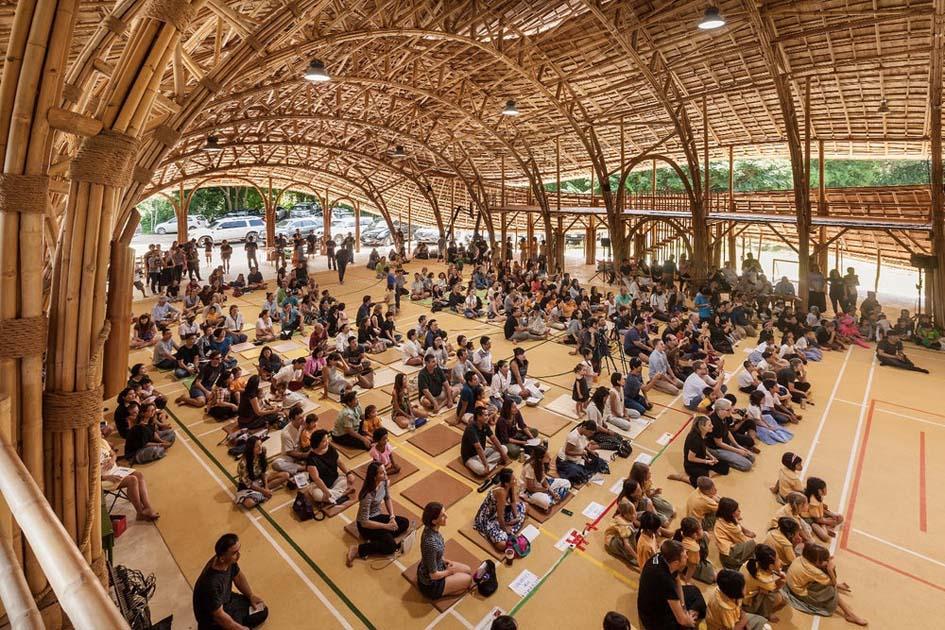 Keren, Gedung Lapangan Basket dari Bambu ini Pikat Wisatawan Dunia