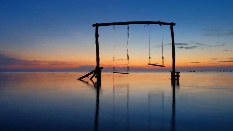 sunset di karimunjawa