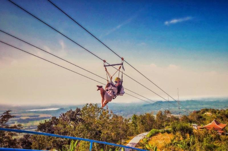 Flying Fox Green Village Gedangsari Yogyakarta Jadi yang Terpanjang di Asia Tenggara, Berani Naik?