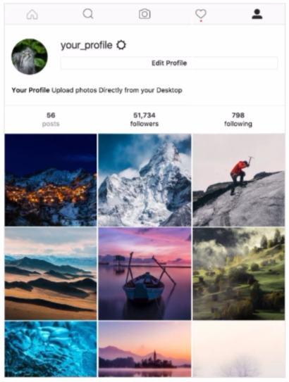 Instagram dari PC