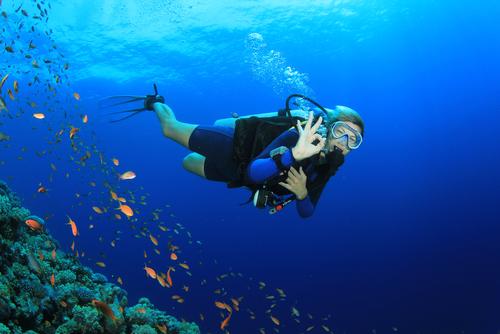 isyarat tangan diving
