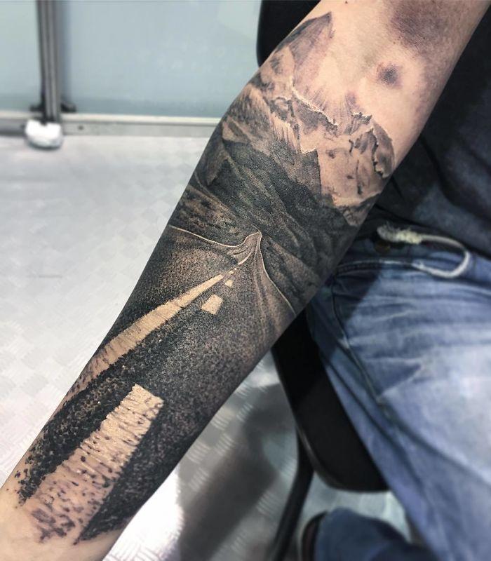 gambar tato traveling