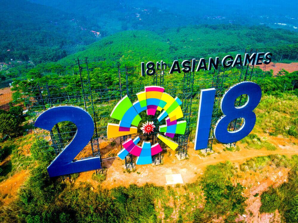 Obor Asian Games Mampir Juga di Taman Air Mancur Purwakarta
